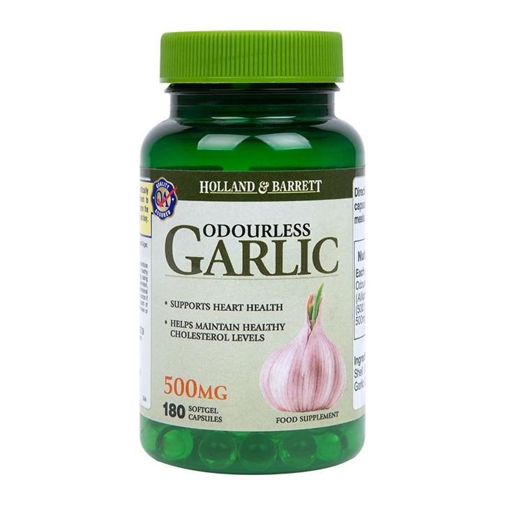 Holland & Barrett Odourless Garlic 500mg 180 Capsules