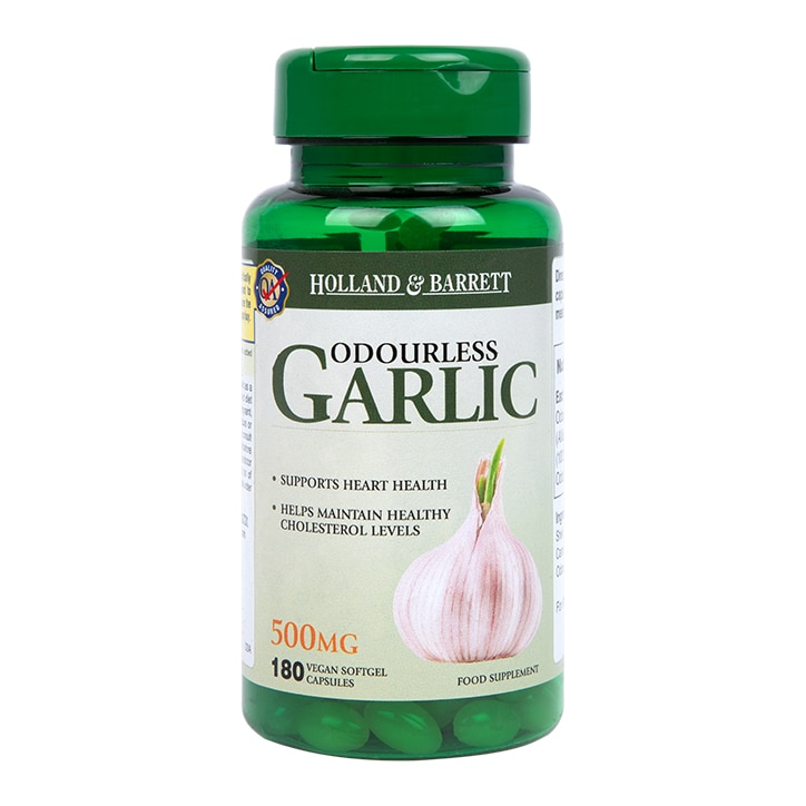 Holland & Barrett Odourless Garlic Vegan Capsules 500mg