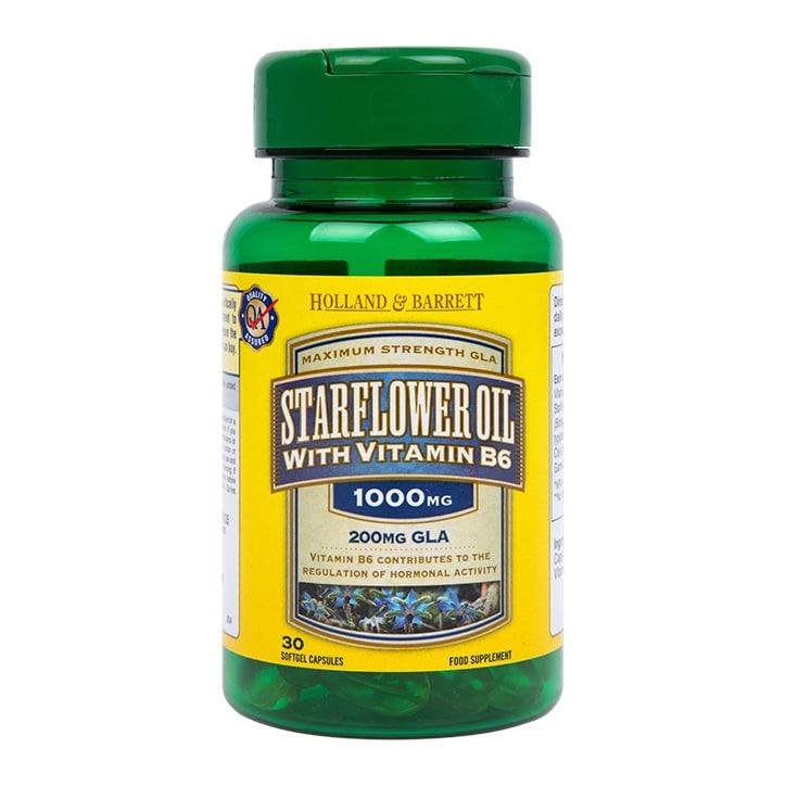 Holland & Barrett Starflower Oil 1000mg 30 Capsules