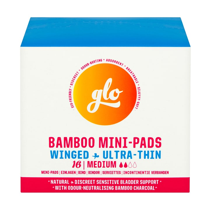 glo Bamboo Mini-Pads for Sensitive Bladder 16 pack