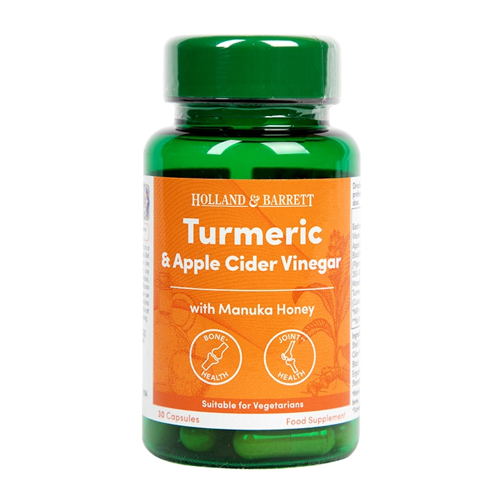 Holland & Barrett Turmeric and ACV with Manuka Honey 30 Capsules