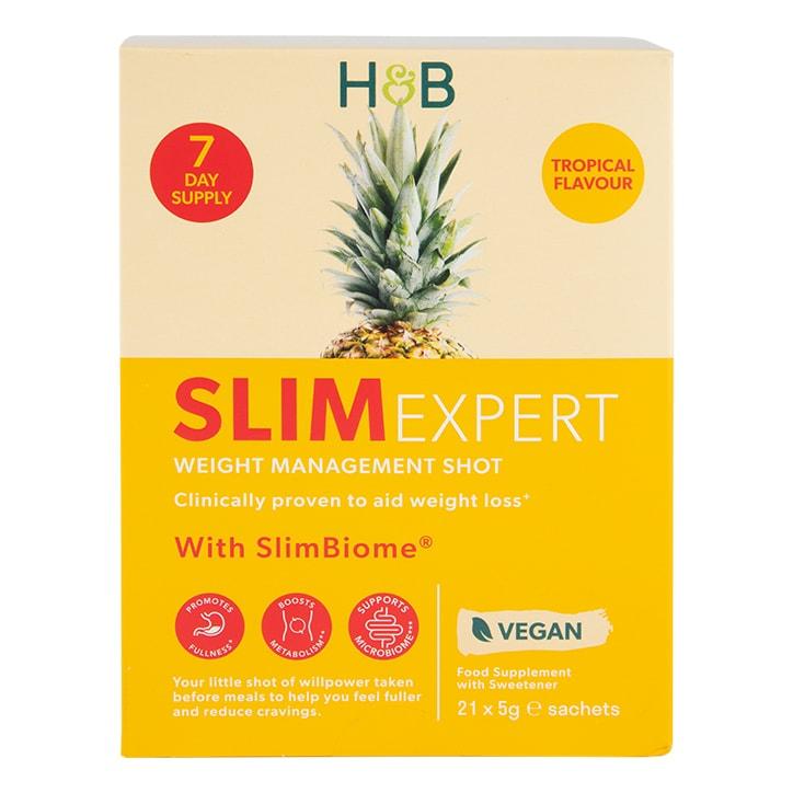 Holland & Barrett SlimExpert Tropical Shots Flavour 21 Sachets