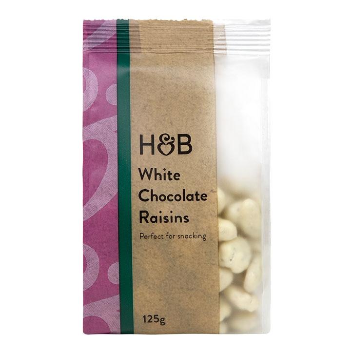 Holland & Barrett White Chocolate Raisins 125g