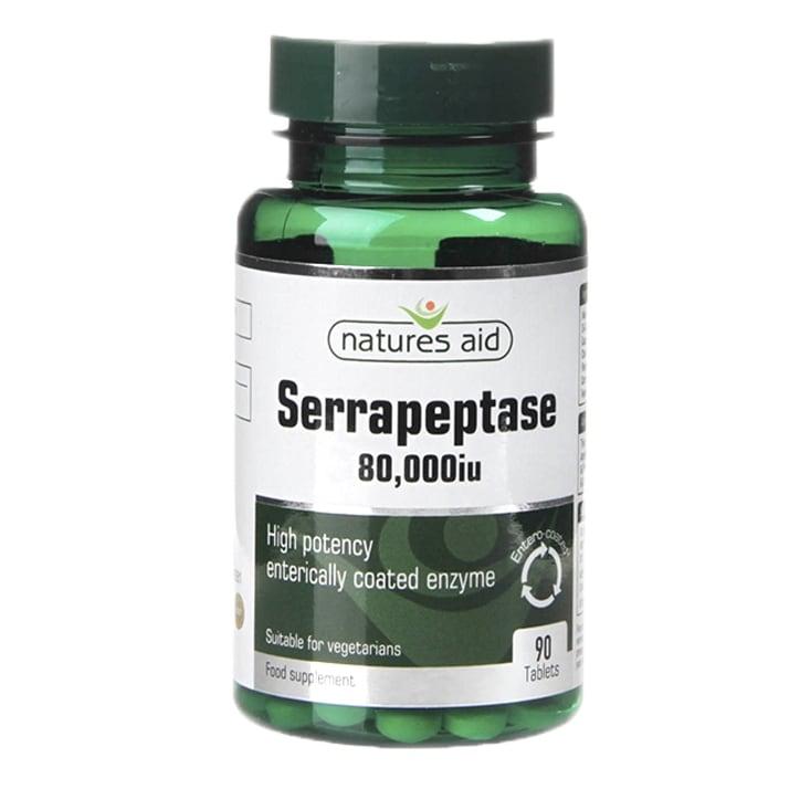 Natures Aid Serrapeptase 90 Tablets 80000iu