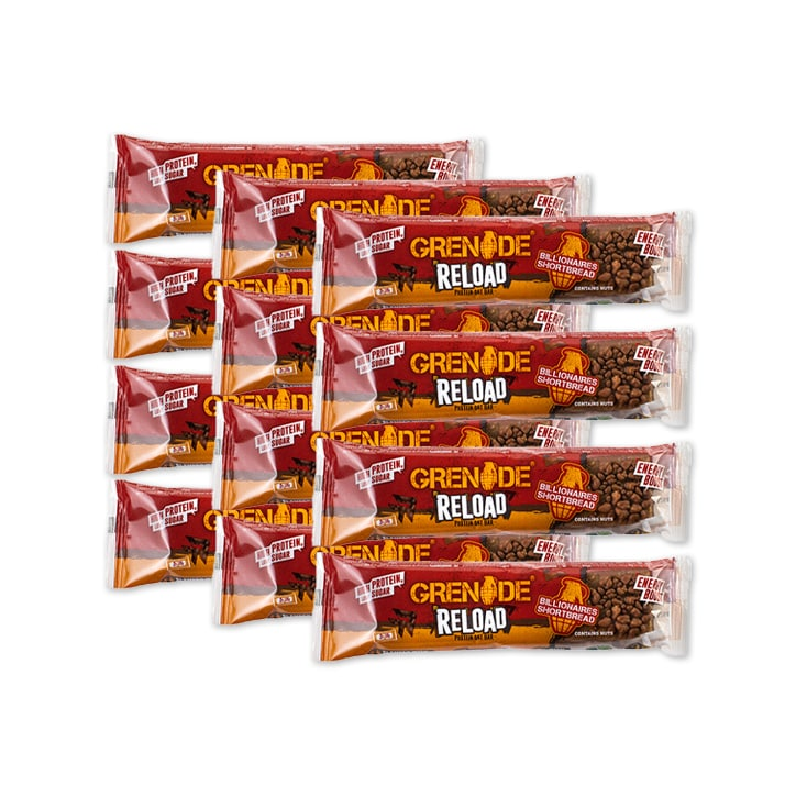 Grenade Reload Protein Oat Bar Billionaires Shortbread 12 x 70g