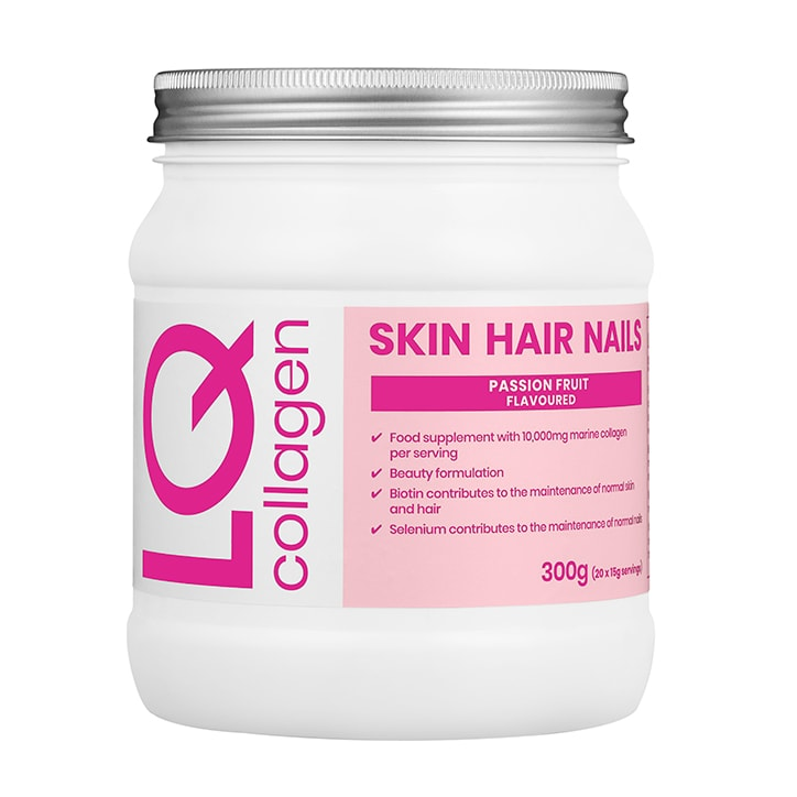 LQ Skin Hair Nails Collagen Passion Fruit Flavoured Powder 300g