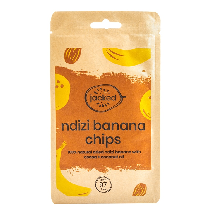 Jacked Ndizi Banana Chips With Cocoa 26g