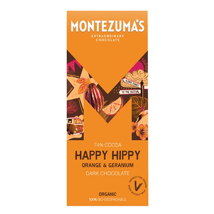 Montezuma's Happy Hippy Orange & Geranium Bar 90g