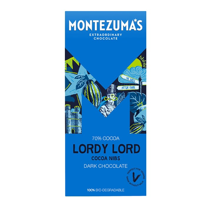 Montezuma's Lordy Lord Dark Chocolate & Cocoa Nib Bar 90g