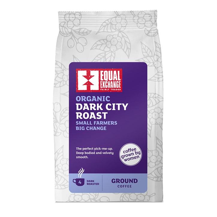 Equal Exchange Womens Coffee Roast Ground Coffee - Dark City 227g