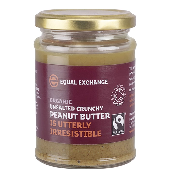 Equal Exchange Crunchy Peanut Butter - Unsalted 280g