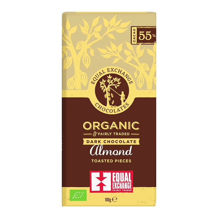 Equal Exchange 55% Dark Chocolate - Almond 100g