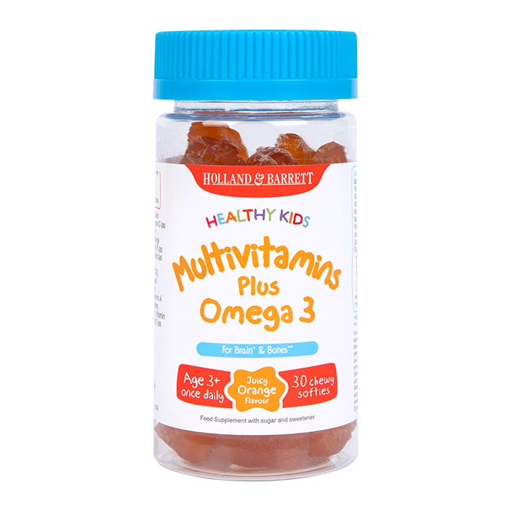 Holland & Barrett Healthy Kids Multivitamins plus Omega 3 30 Softies