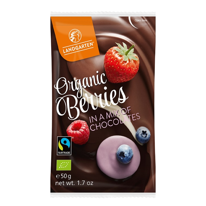 Landgarten Berries In A Mix Of Chocolate 50g