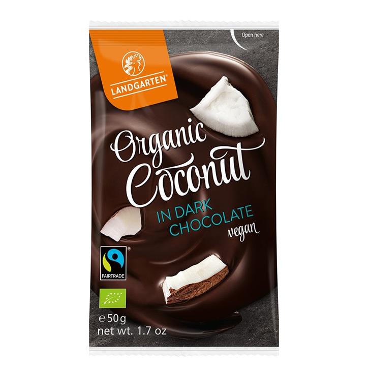 Landgarten Organic Coconut Dark Chocolate 50g