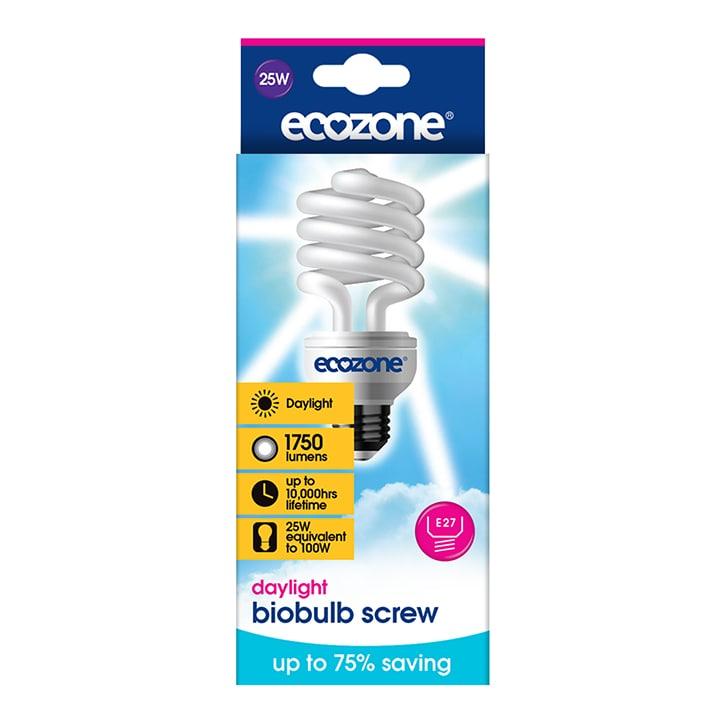 Ecozone Biobulb - 25W Daylight - Screw E27 Single