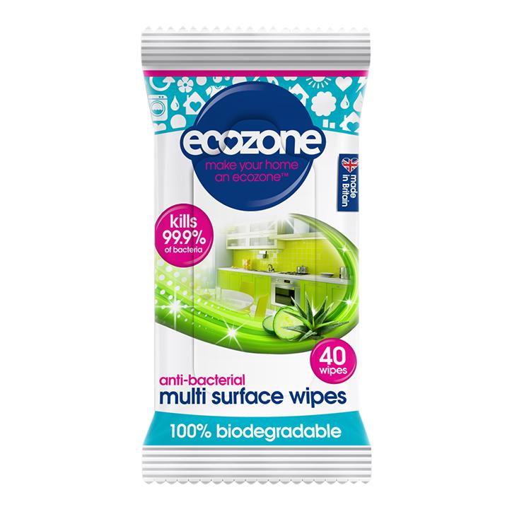 Ecozone Antibacterial Multi Surface Wipes 240g