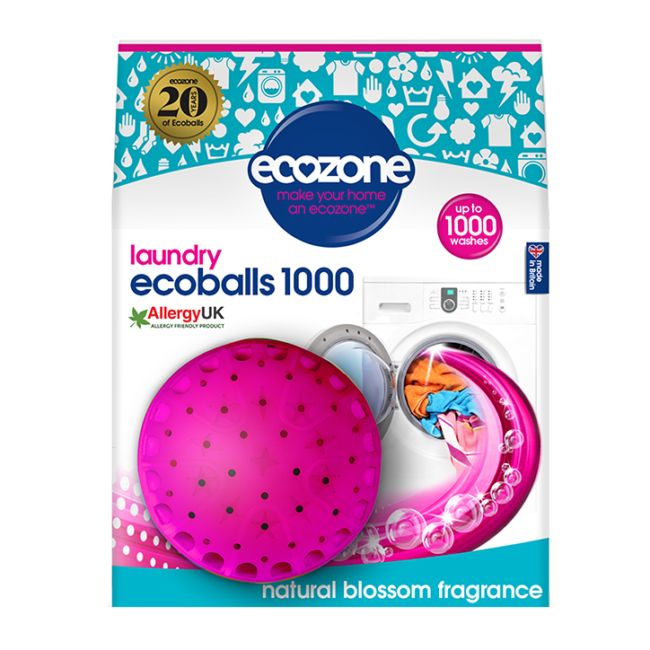 Ecozone Ecoball 1000 Wash - Natural Blossom Single