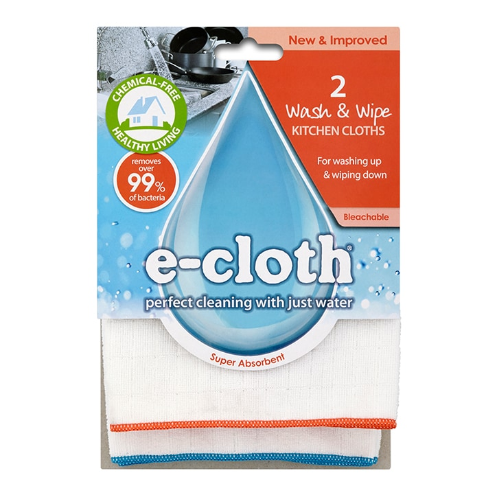 E-Cloth Antibacterial Wash & Wipe Kitchen Cloth 2 pack