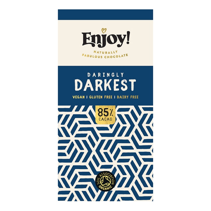 Enjoy Raw Choc Dark 85% Chocolate Bar 35g