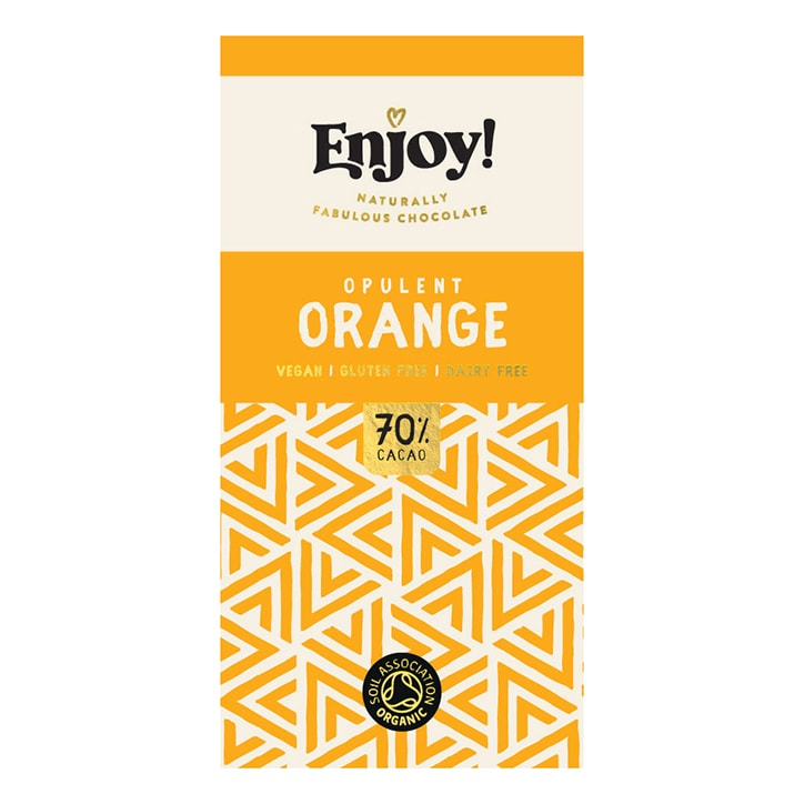 Enjoy Raw Choc Orange Chocolate Bar 35g