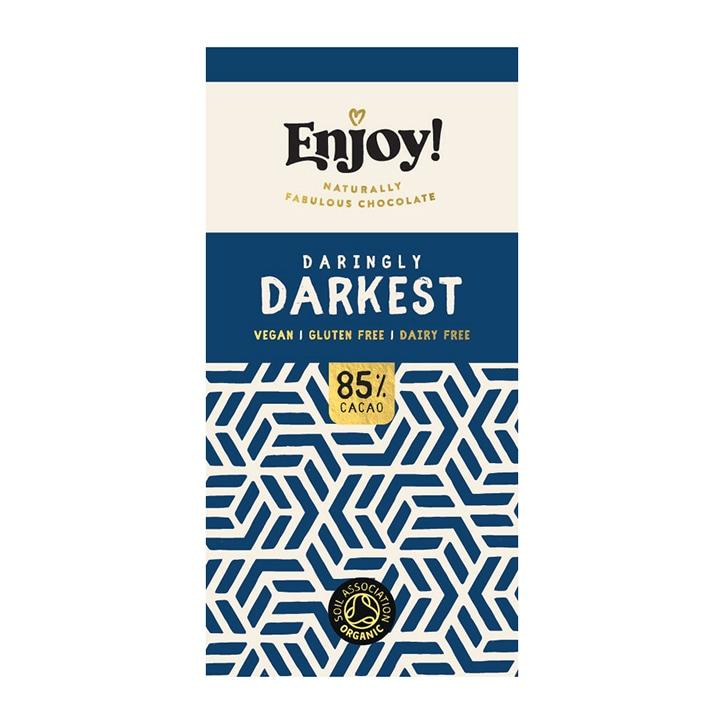 Enjoy Raw Choc Dark 85% Chocolate Bar 70g