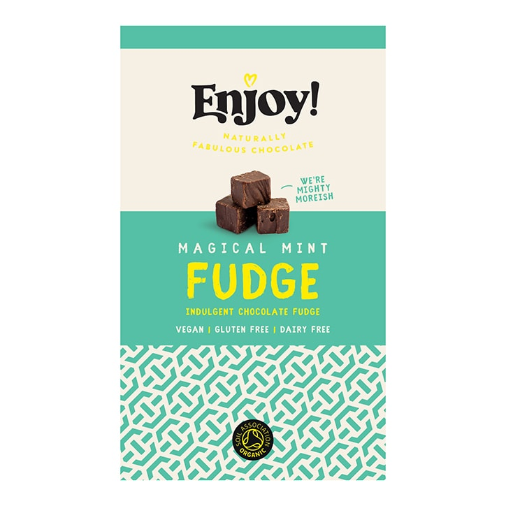 Enjoy Raw Choc Mint Chocolate Fudge 100g