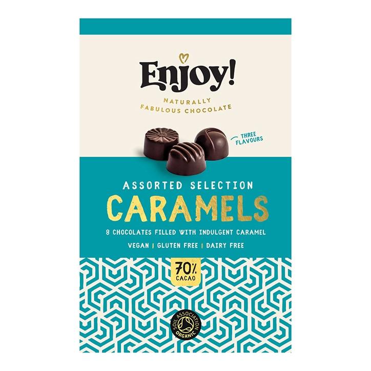 Enjoy Raw Choc Assorted Caramel Chocolates 72g