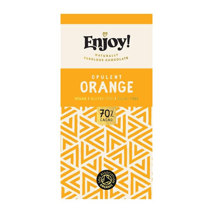 Enjoy Raw Choc Orange Chocolate Bar 70g
