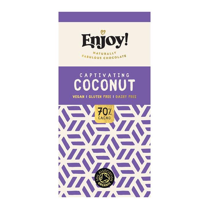 Enjoy Raw Choc Coconut Milk Chocolate Bar 70g