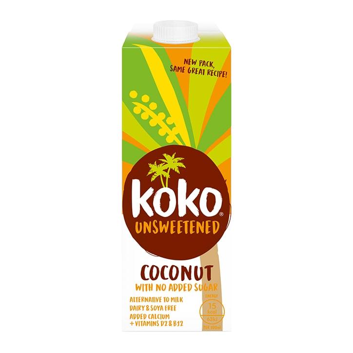 Koko Dairy Free Unsweetened UHT Coconut Milk 1Ltr