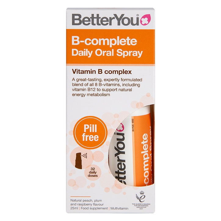 BetterYou B Complete Peach, Plum & Rasberry Flavour Daily Oral Spray 25ml