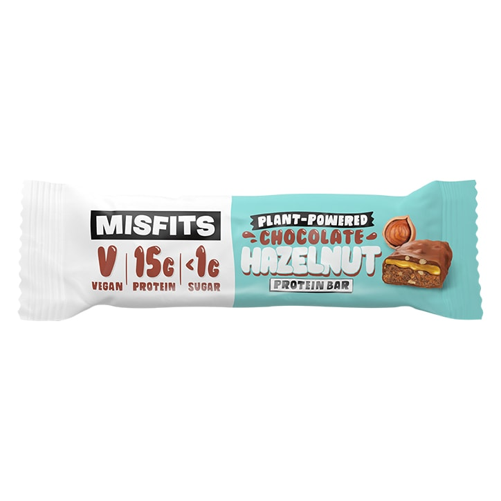 Misfits Chocolate Hazelnut Vegan Protein Bar 45g