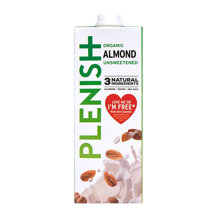 Plenish Organic Unsweetened 7% Almond M*lk 1Ltr