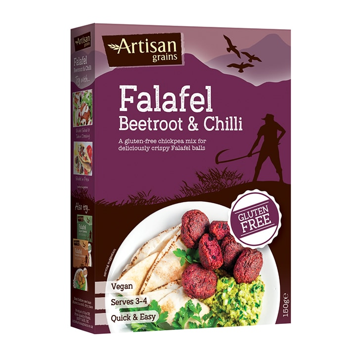 Artisan Grains Beetroot & Chilli Falafel 150g