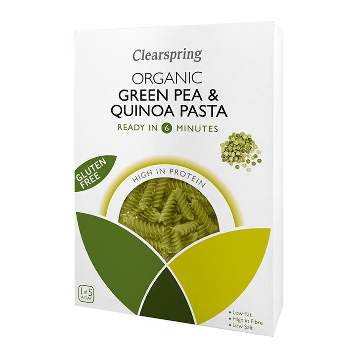 Clearspring Organic Green Pea & Quinoa Fusilli Pasta 250g