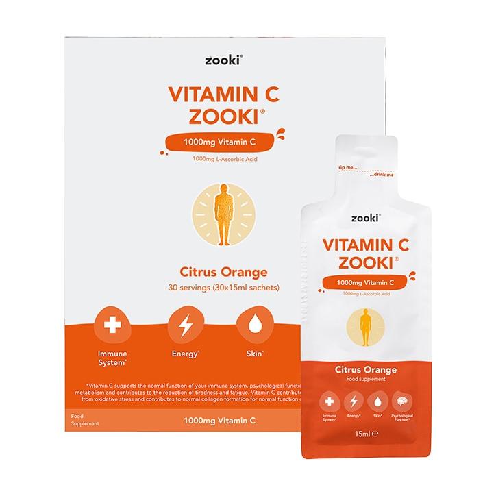 YourZooki Liposomal Vitamin C 1000mg 15ml Sachets 30 Pack