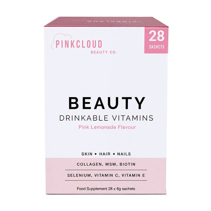 Pink Cloud Beauty Drinkable Vitamins Pink Lemonade Flavour 28 Sachets