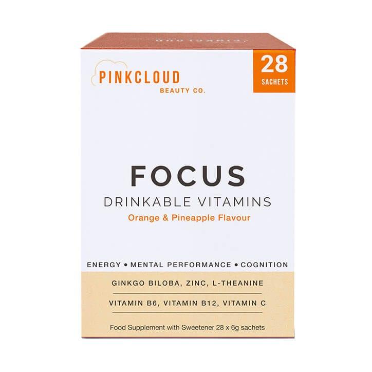 Pink Cloud Focus Drinkable Vitamins Orange & Pineapple 28 Sachets