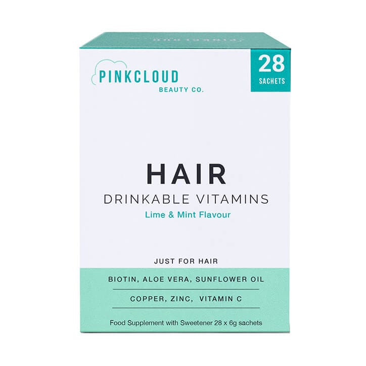 Pink Cloud Hair Drinkable Vitamins Lime & Mint Flavour Sachets