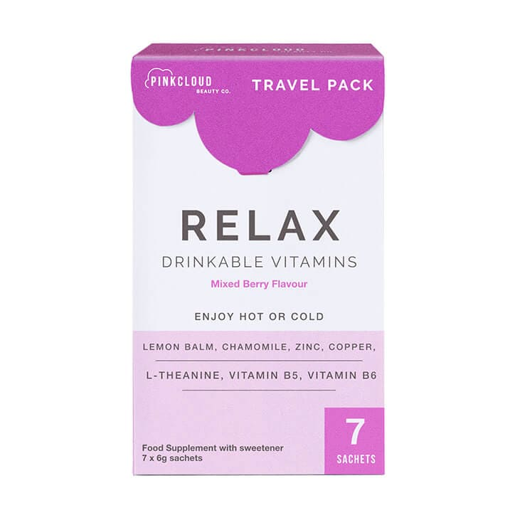 Pink Cloud Relax Drinkable Vitamins Mixed Berry Flavour 7 Sachets