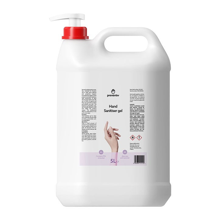 Preventiv Hand Sanitiser Gel 5L