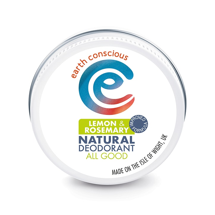 Earth Conscious Natural Deodorant Balm - Lemon & Rosemary