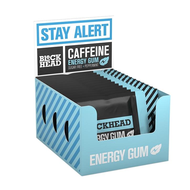 Blockhead Energy Gum Peppermint 10 x 5 Pieces