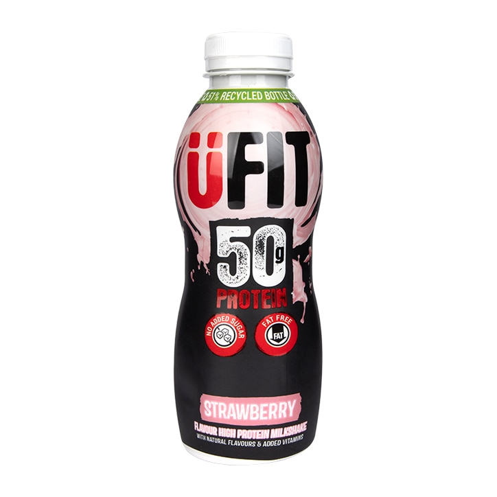 UFIT High 50g Protein Shake Strawberry 500ml