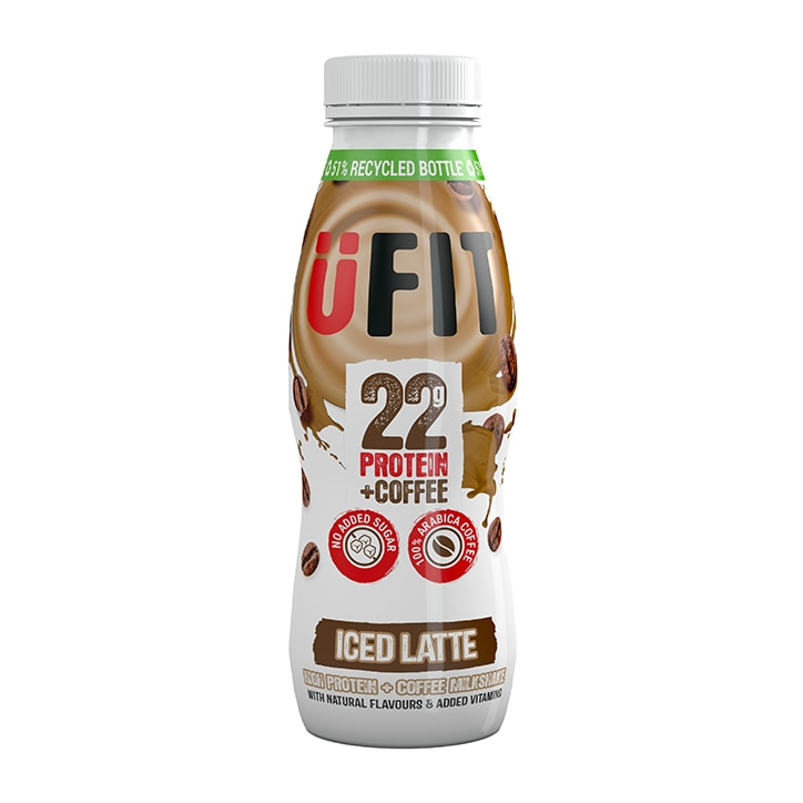 UFIT High 22g Protein Shake Drink Iced Latte 310ml