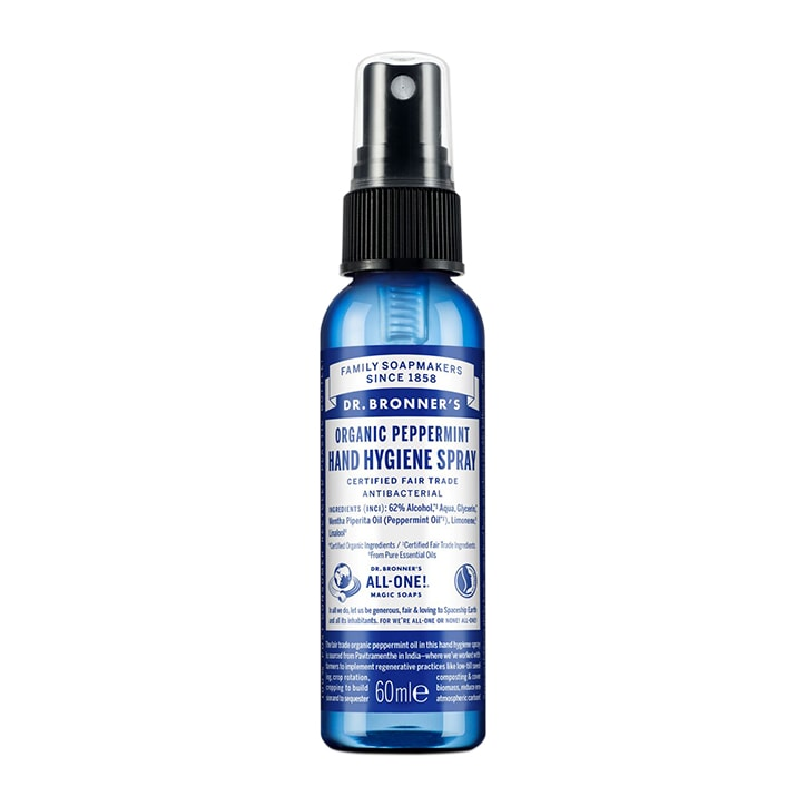 Dr Bronner's Organic Peppermint Hand Hygiene Spray 60ml