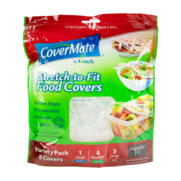 Covermate Stretch and Fit Reusable Food Covers 8 Pack