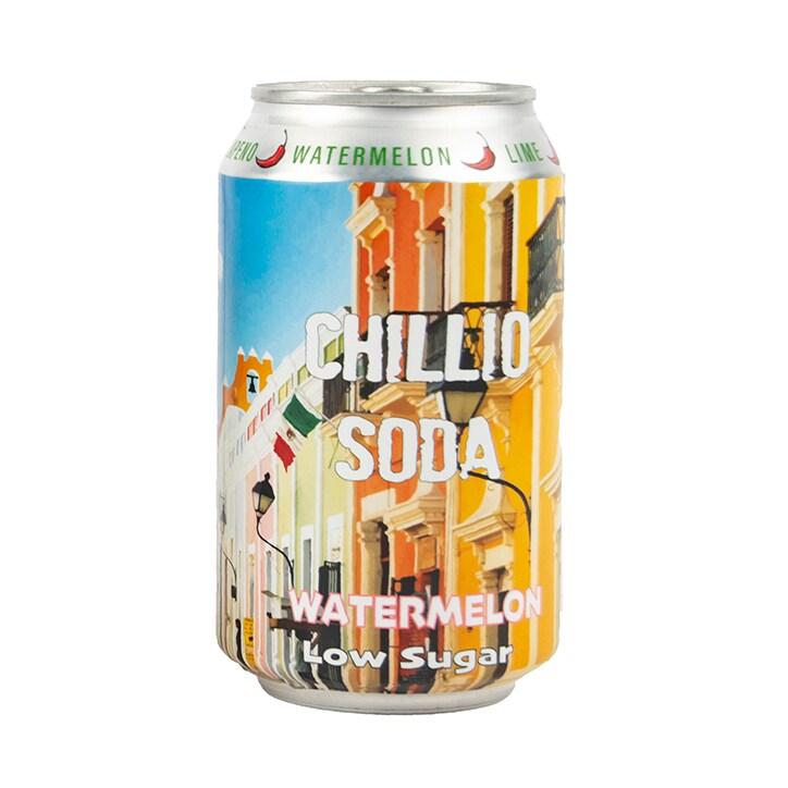 Chillio Watermelon Jalapeno Soda Inspired by Mexico 330ml