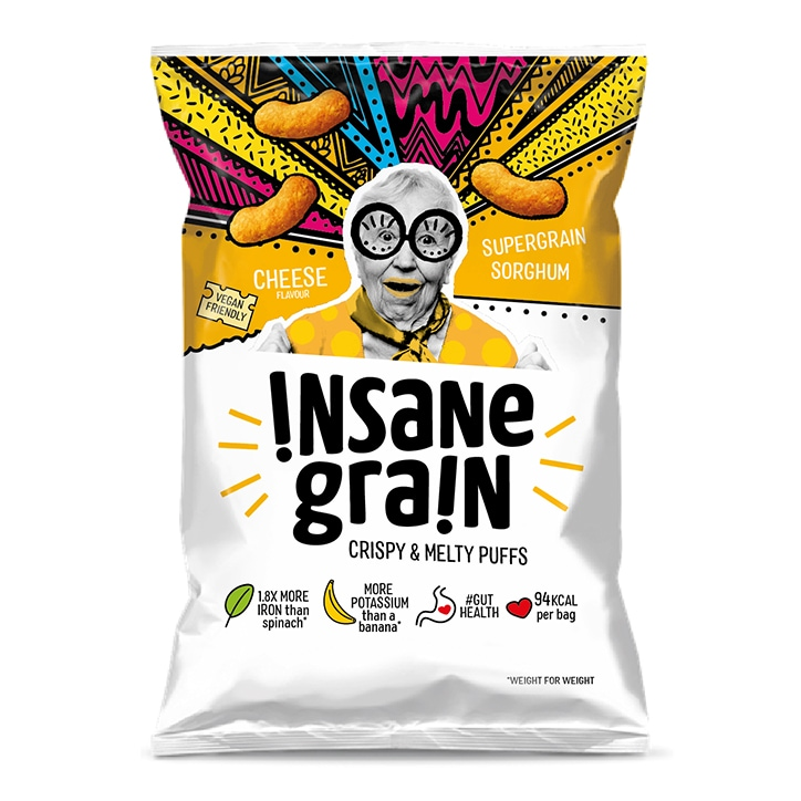 Insane Grain Vegan Cheese Sorghum Super Grain Puffs 24g